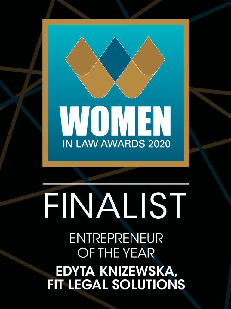 Women in Law Awards 2020 Finalist Edyta Knizewska